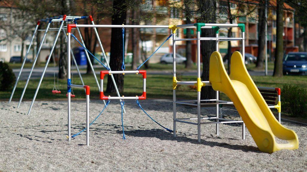 Zunanji otroški tobogan plezalna mreža