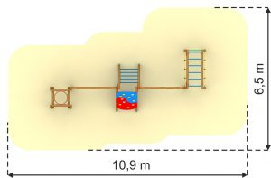 poligon za otroke 5 - 12 let dimenzije