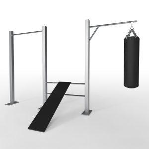 fitnes drog, klop in boksarska vreča